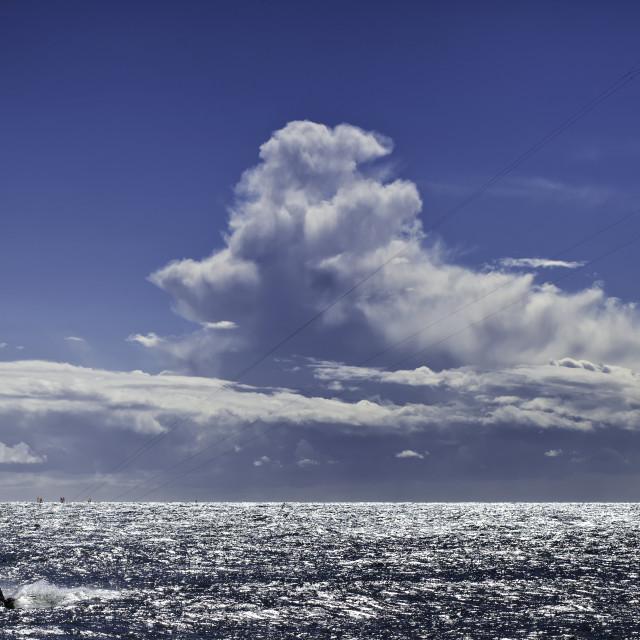 """Lone Kitesurfer"" stock image"