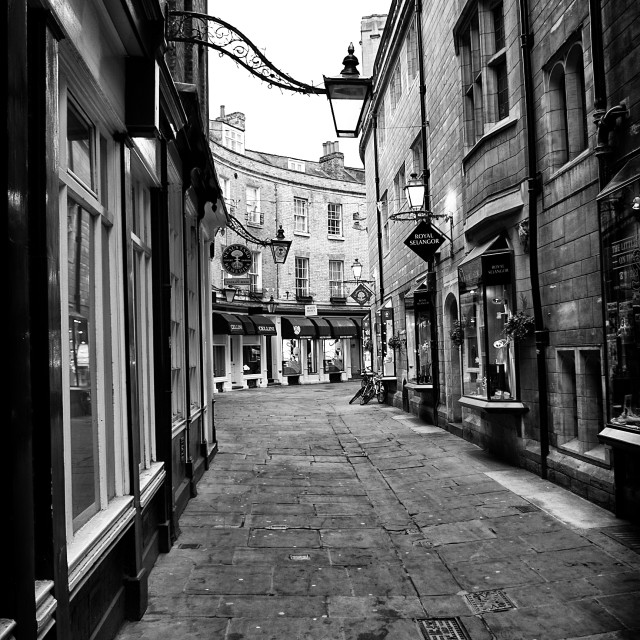 """Rose Crescent in Cambridge City Centre"" stock image"
