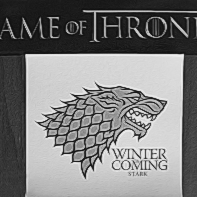 """""""Winter is Coming"""" stock image"""