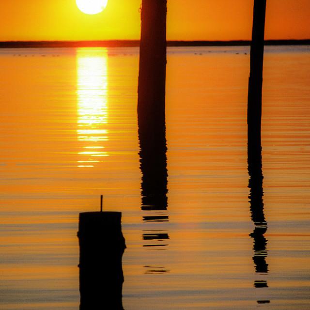 """""""Fraser river sunset"""" stock image"""