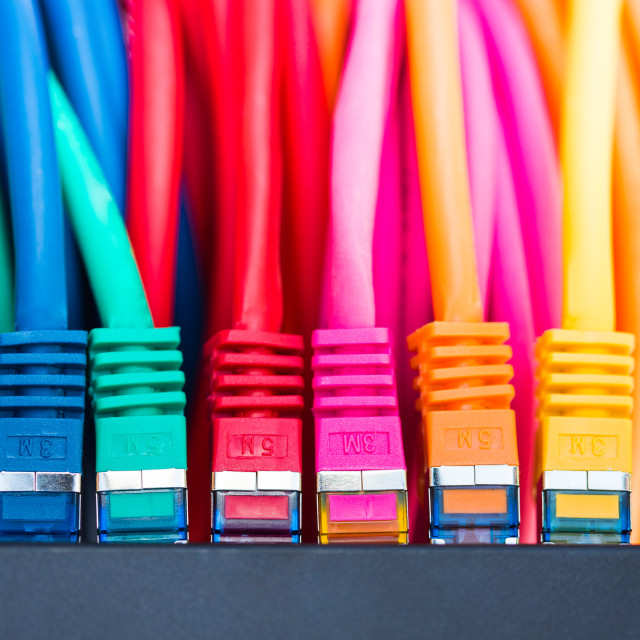 """""""Network Cables"""" stock image"""
