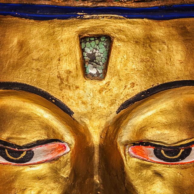 """""""Eyes of Maitreya Buddha close up"""" stock image"""