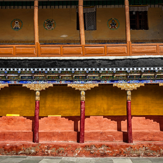 """""""Tibetan architecture in Thiksey monastery"""" stock image"""