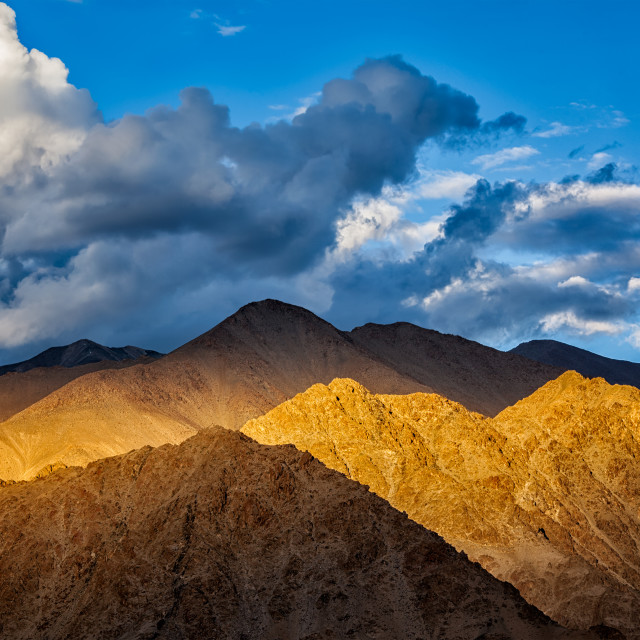 """Himalayas Zanskar range on sunset"" stock image"