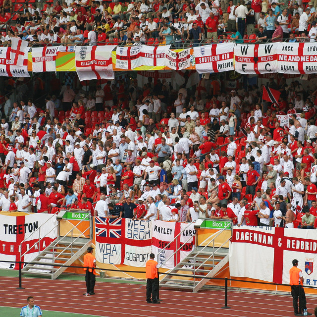 """Come on England"" stock image"