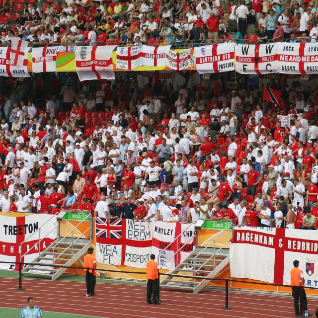 """""""Come on England"""" stock image"""