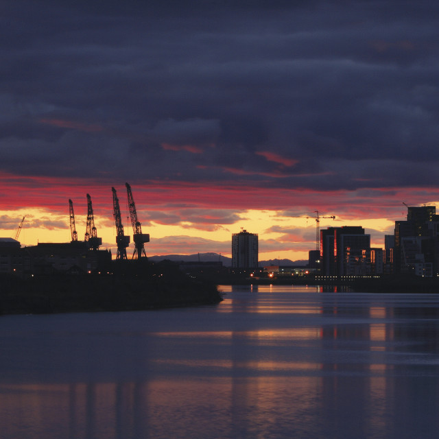 """""""Govan from Pacific Quay"""" stock image"""
