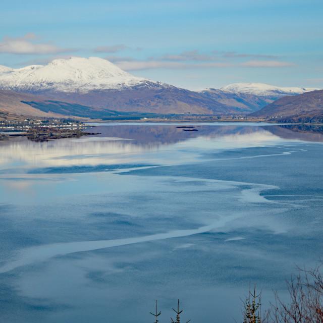 """Loch Carron"" stock image"