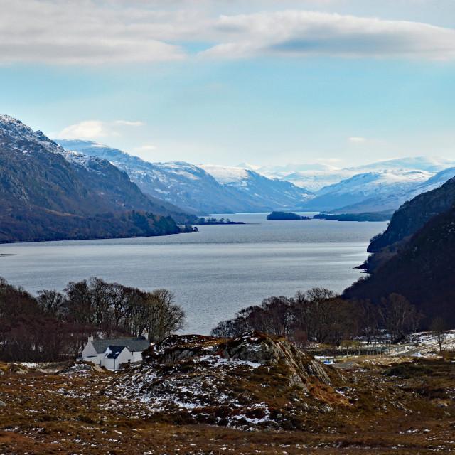 """Loch Maree"" stock image"