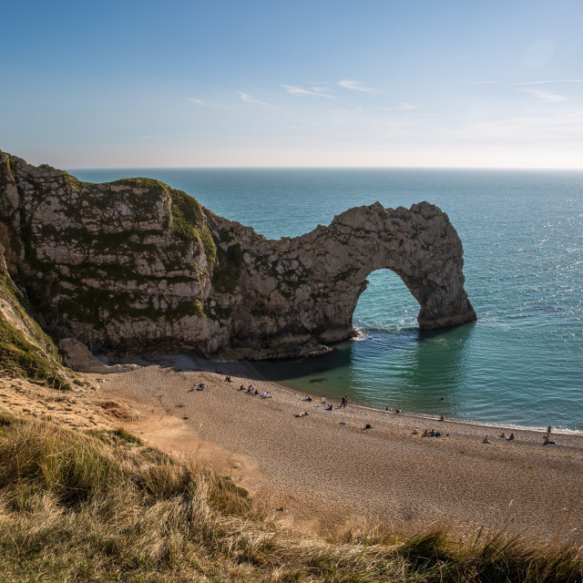 """Summer at Durdle Door"" stock image"