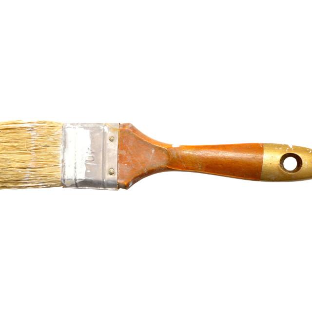 """dirty paint brush"" stock image"