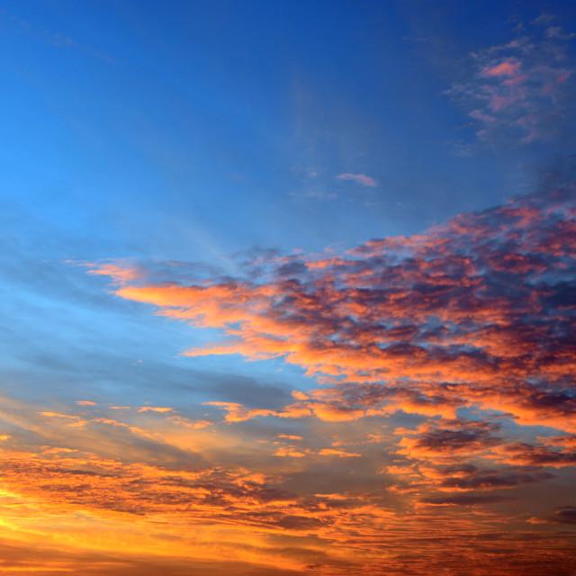 """Dramatic Sunset Sky"" stock image"