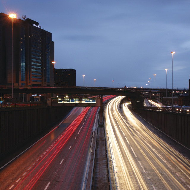 """The M8 at Glasgow"" stock image"