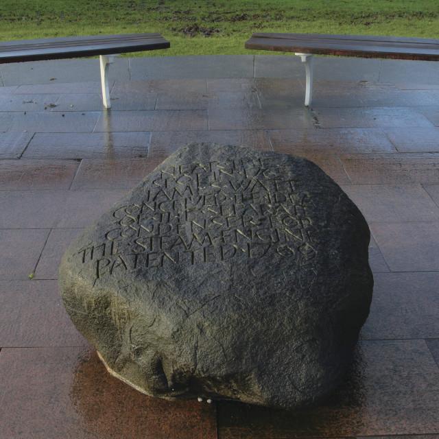 """James Watt Stone"" stock image"