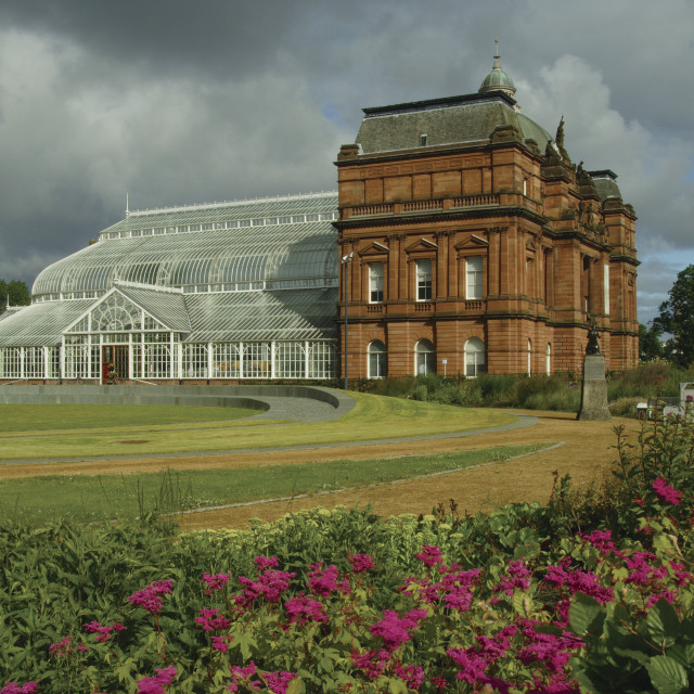 """""""People's Palace and Winter Gardens"""" stock image"""