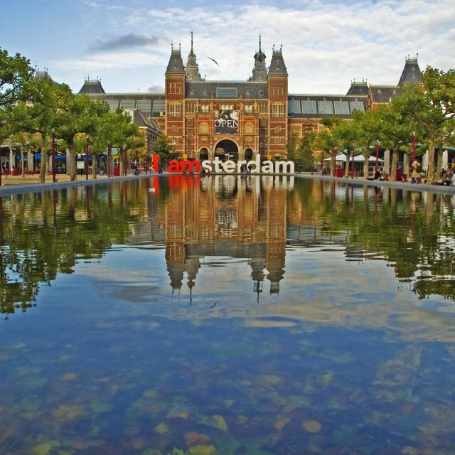 """""""I Amsterdam"""" stock image"""