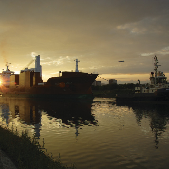 """Ship on the River Clyde"" stock image"