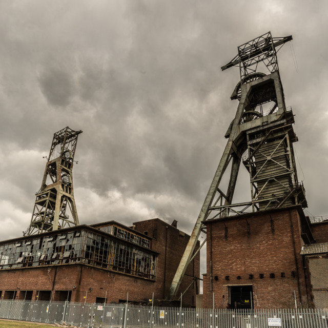 """""""Storm over dereliction"""" stock image"""