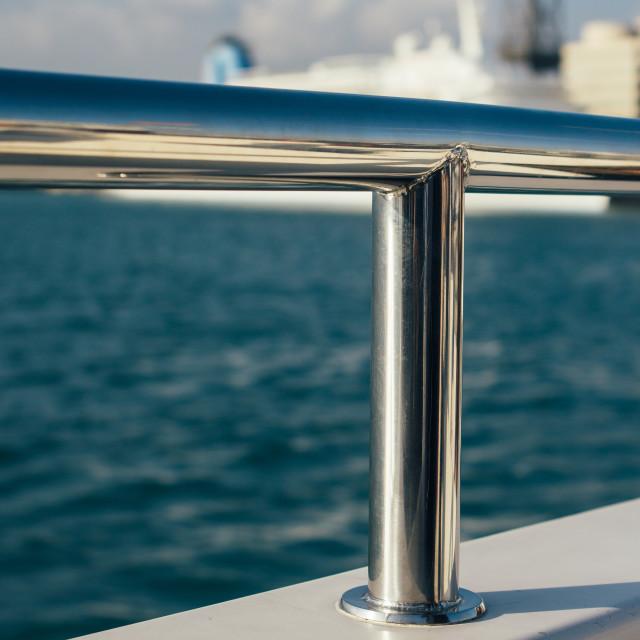 """Ship Railing Closeup"" stock image"