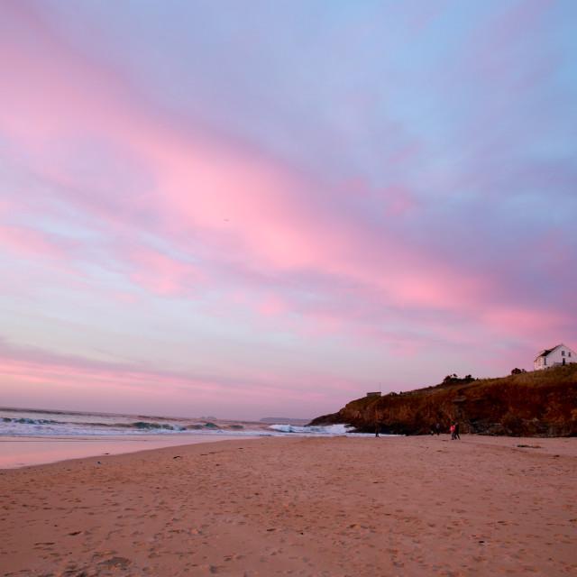 """Hayle Beach, Cornwall, uk"" stock image"