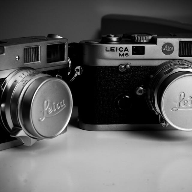 """Classical film cameras"" stock image"