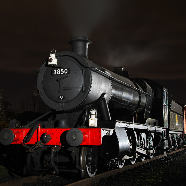 """Western Region goods train at night"" stock image"