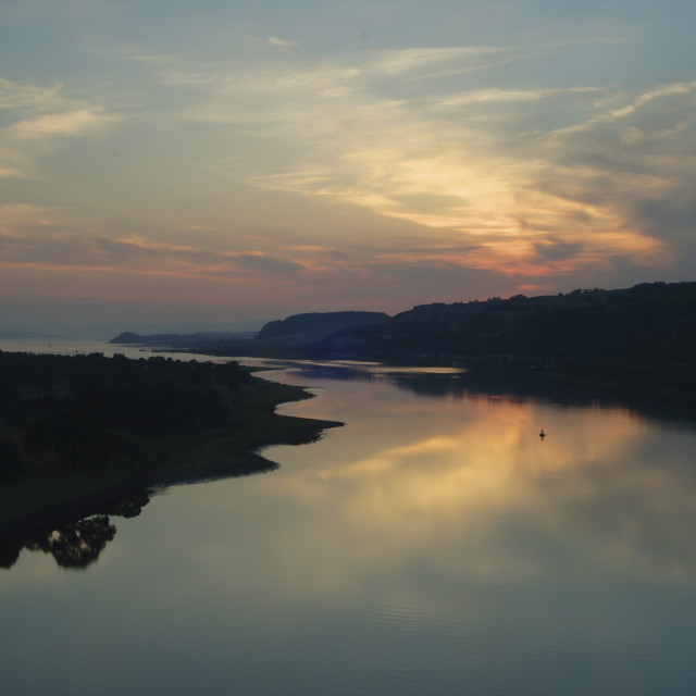 """""""River Clyde from the Erskine Bridge"""" stock image"""