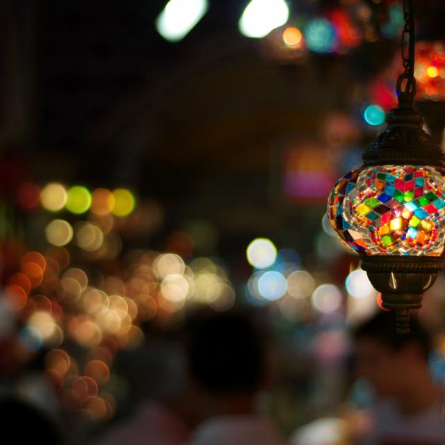 """Light Bokeh - Grand Bazar / Istanbul"" stock image"