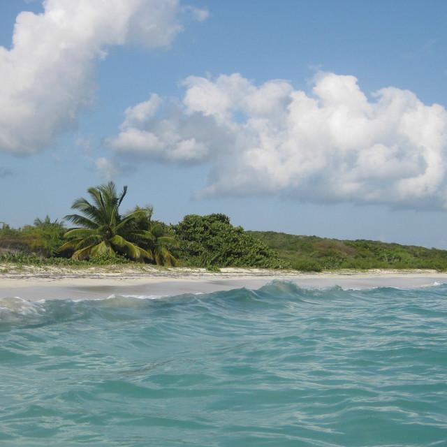 """Blue Beach on Vieques Island"" stock image"