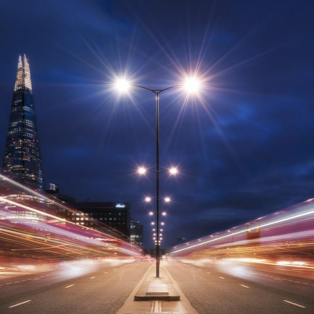 """The Shard And London Bridge"" stock image"