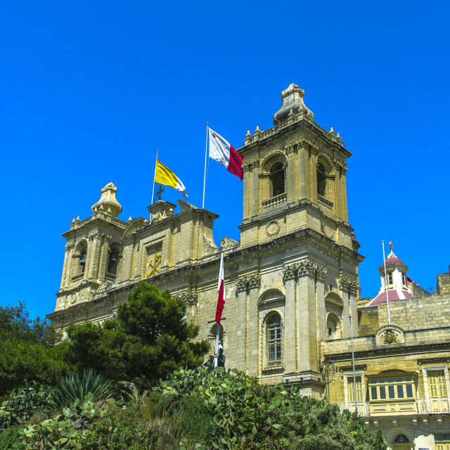 """Vittoriosa church"" stock image"