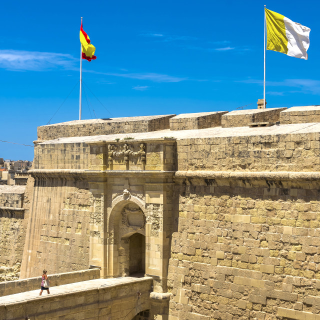 """Vittoriosa fortifications"" stock image"