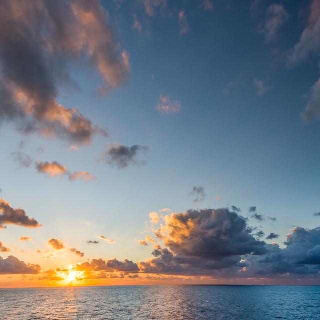 """Sun Set at Sea"" stock image"