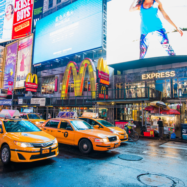 """Time Square Taxi"" stock image"