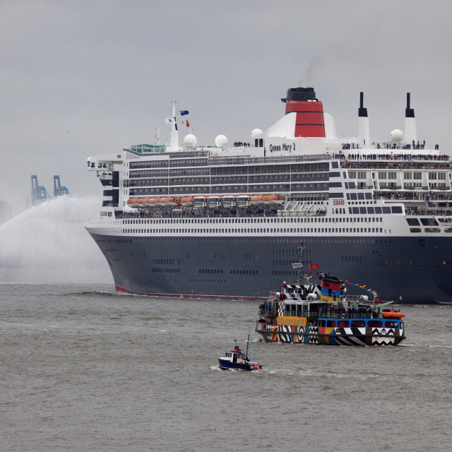 """Queen Mary 2 Procession"" stock image"