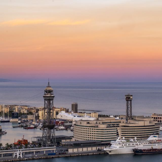 """Panoramic of Barcelona"" stock image"