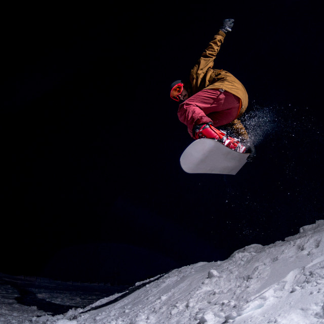 """""""Snowboarder jumping"""" stock image"""
