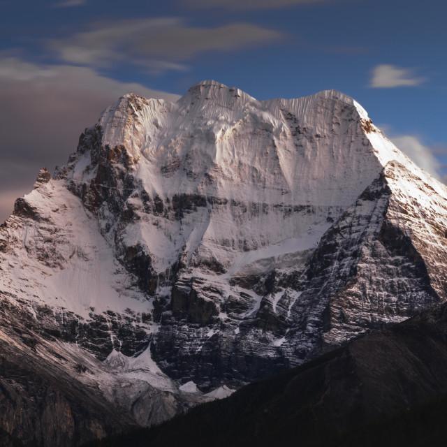 """Tibet holy mountain, Xian Nai Ri"" stock image"