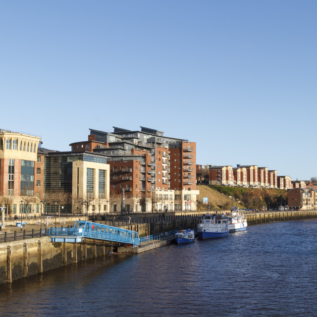 """""""Quayside in Newcastle"""" stock image"""