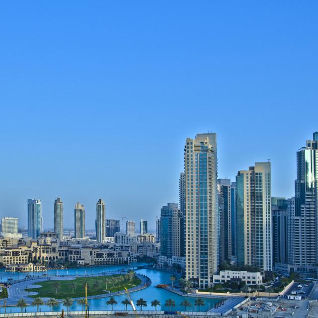 """Downtown Dubai"" stock image"