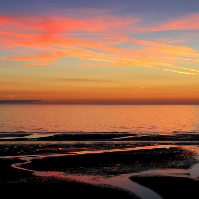"""Fylde Coast Sunset"" stock image"