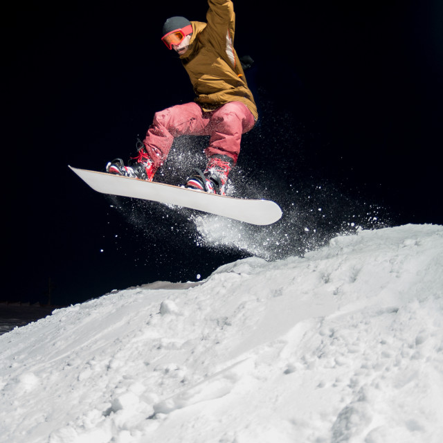 """Snowboarder jumping"" stock image"