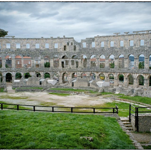"""Pula Amphitheatre"" stock image"