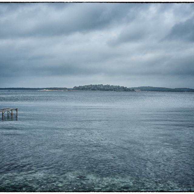 """""""Island near Pula, Croatia"""" stock image"""