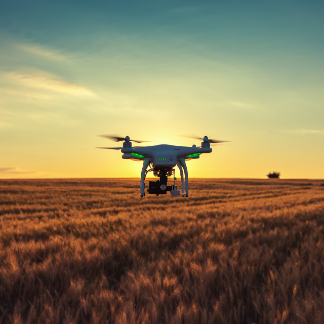"""Varna, Bulgaria - June 23 ,2015: Flying drone quadcopter Dji Pha"" stock image"