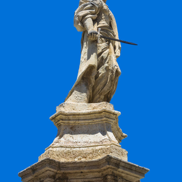 """""""Statue of St Lawrence"""" stock image"""