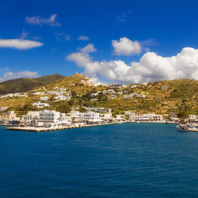 """Port of Ios, Greece"" stock image"