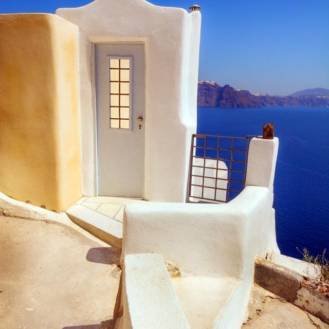 """""""Traditional architecture in Oia village, Santorini, Greece"""" stock image"""