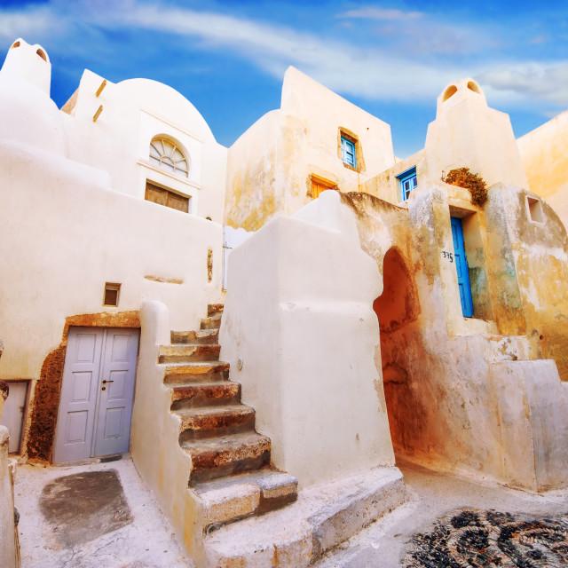 """The old part of Emporio village, Santorini, Greece"" stock image"