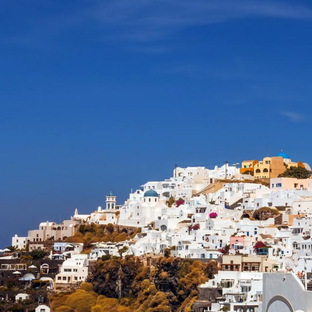"""""""Imerovigli village architecture, Santorini island, Greece"""" stock image"""